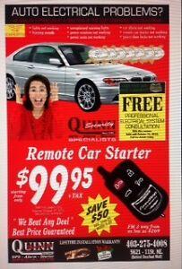 CAR STARTERS / ALARMS  / VEHICLE ELECTRICAL REPAIR