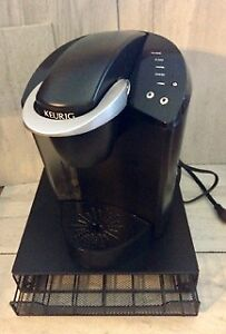 Keurig Machine, Tray, and K Cup