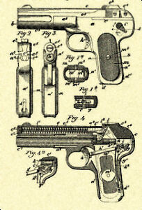 BROWNING-FN-Model-1900-32-Caliber-Pistol-Patent-P437