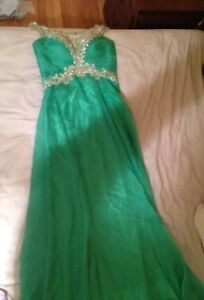 robe de bal Alyce verte / Alyce green prom dress