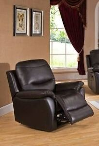 Top grain leather recliner chair, Amax,  more pieces available