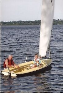 Yellow Top Deck Sidewinder Sailboat for Sale