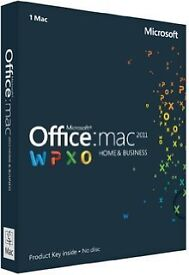 OFFICE MAC 11 HOME AND BUSINESS SUITE FOR APPLE MAC PC/LAPTOP NEW ON DISC WITH KEYS