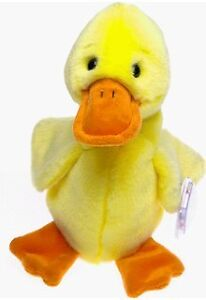 Quackers the Yellow Duck Ty Beanie Buddy stuffed animal
