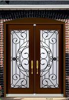Double Front Door Wrought Iron