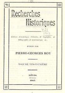 Bulletin des recherches historiques du Québec