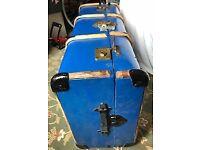 Retro Vintage Bentwood Banded Steamer Trunk