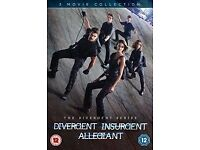DIVERGENT TRILOGY DVD's all 3 films BARGAIN!