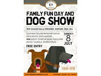 FAMILY FUN DAY AND ALL BREEDS DOG SHOW WYE VILLAGE HALL AND GROUNDS TN25 5EA