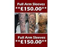 Custom Tattoos & Body piercings *50% OFF*