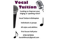 Vocal Tuition in Bishopton