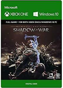 Shadow of war game codes a vendre pas chere pour xbox one