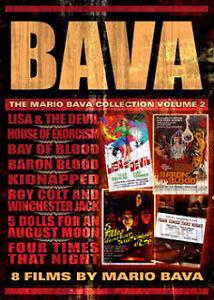 Mario Bava Box Set(Volume 2) 8 films/6 dvds