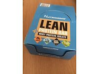 Nutramino Lean Protein Bar Whey Isolate Cookies & Cream