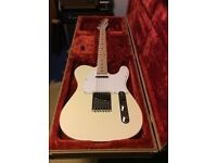 Fender Squier Affinity Telecaster , Arctic White with Seymour Duncan hot tail pick up fitted .