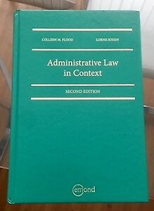 Administrative Law in Context (Flood / Sossin) - Second Edition