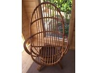 Swivel bamboo chair. Angrave furniture