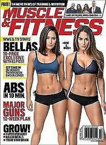 Muscle And Fitness October 2016 WWE Bella Twins Nikki & Brie