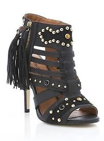 MISS SELFRIDGE ladies shoes heels NEW 6 black gold gladiator river topshop zara faith