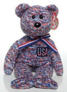 USA the bear Ty Beanie Baby - USA Exclusive