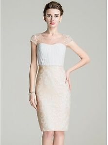 Mother of the Bride/ Groom Dress, size 14 (pale yellow)