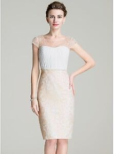 Sz14: Pale Yellow Dress for mother of the bride/groom