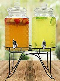 Twin Mason Jar Drinks dispenser and stand.