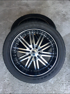 275/40/R20 tires with rims fits Acura Mdx