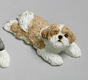 Shih Tzu Sandicast Sculptures – Mid-Size, Snoozer, and Peeper