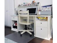 Desk, drawers, filling cabinet and chair (all in excellent condition). £75 for all items.