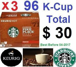 Keurig K-cups $30 Starbucks Pike Place 96 kcup $35 Donut Shop Coffee Favourits $ 60 Green Mountain Breakfast Blend