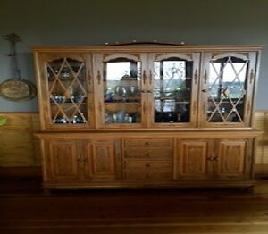 Matching Buffet & Wall Unit Solid Teak Both Pieces for one price Orange Orange Area Preview