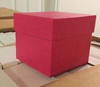 """100 Fuchsia Embossed Gift Box Set (5""""x5""""x4"""") - $50!"""