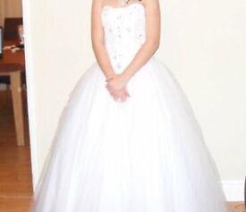 White size 8 prom/wedding dress.