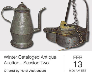 Winter Cataloged Antique Auction - Session Two