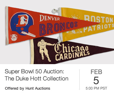 Session One: Super Bowl 50 Live Auction: The Duke Hott Collection