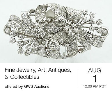Fine Jewelry, Art, Antiques & Collectibles
