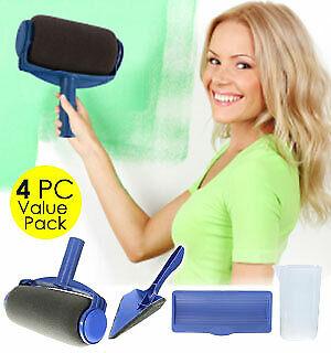 Wonder Roller 4 Pcs Value Pack Paint Roller Kit Just Fill & Paint AS SEEN ON TV