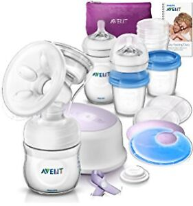 Philips Avent Electric Breast Pump & Extra Bottles