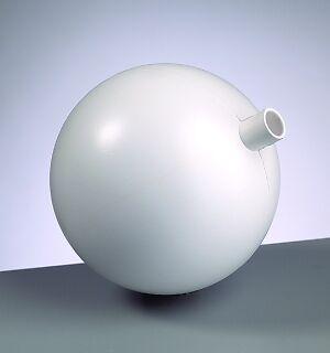 Kunststoff Gartenkugel mit Stutzen 150 mm Durchmesser