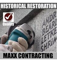 Historical Restoration, Brick, Concrete, Monument, Stone