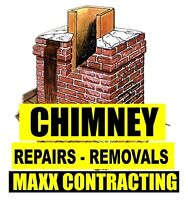 Chimney, Waterproofing, Caulking, Brick, Repairs Repointing