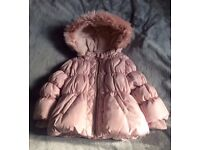 Baby girls winter coat from Next 9-12 months