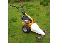 Stiga Silex 95 two-wheeled tractor with mower attachment