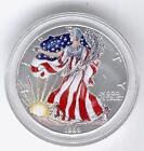 Painted American Silver Eagle