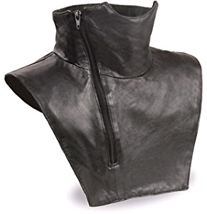 Motorcycle leather neck warmer