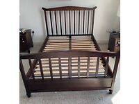 Double Timber Framed Bed For Sale
