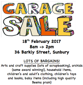 Garage Sale!! 36 Barkly st, Sunbury! 8am-2pm Sunbury Hume Area Preview