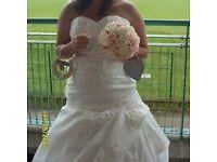 Anna sorrano ivory wedding dress