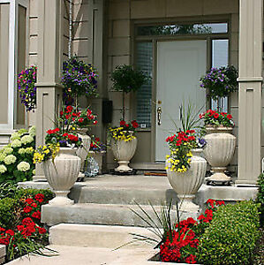 Spring and Summer Seasonal Landscape Decorations Urns Pots Boxes